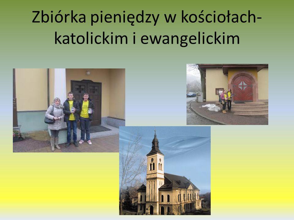 Zbiórka pieniędzy w kościołach- katolickim i ewangelickim