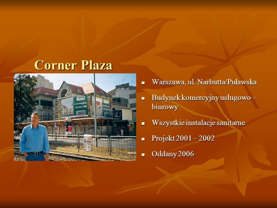 Corner Plaza Warszawa, ul.Narbutta/Puławska Warszawa, ul.