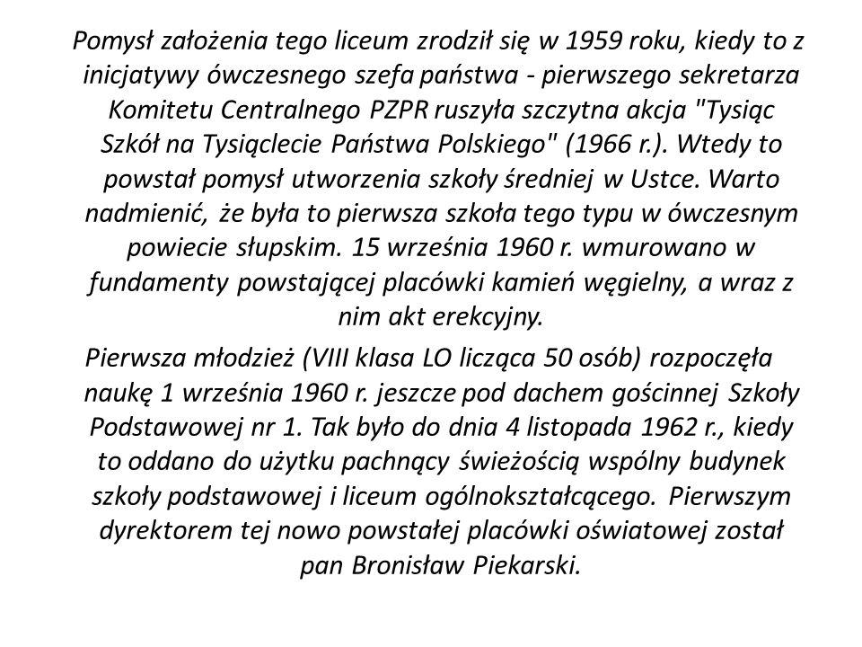 Pomysł założenia tego liceum zrodził się w 1959 roku, kiedy to z inicjatywy ówczesnego szefa państwa - pierwszego sekretarza Komitetu Centralnego PZPR ruszyła szczytna akcja Tysiąc Szkół na Tysiąclecie Państwa Polskiego (1966 r.).