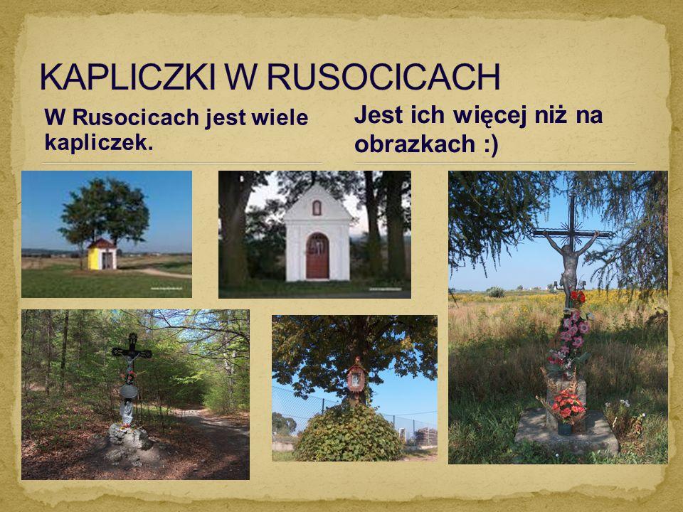 W Rusocicach jest wiele kapliczek. Jest ich więcej niż na obrazkach :)