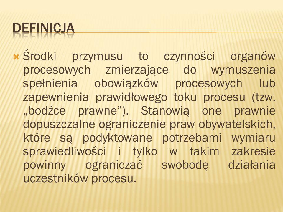  dyrektywa adaptacji do sytuacji procesowej jest wspólna dla wszystkich środków zapobiegawczych art.