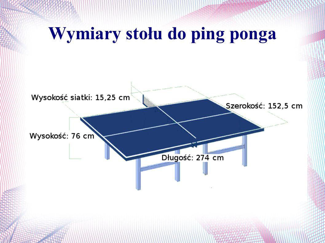 Wymiary stołu do ping ponga
