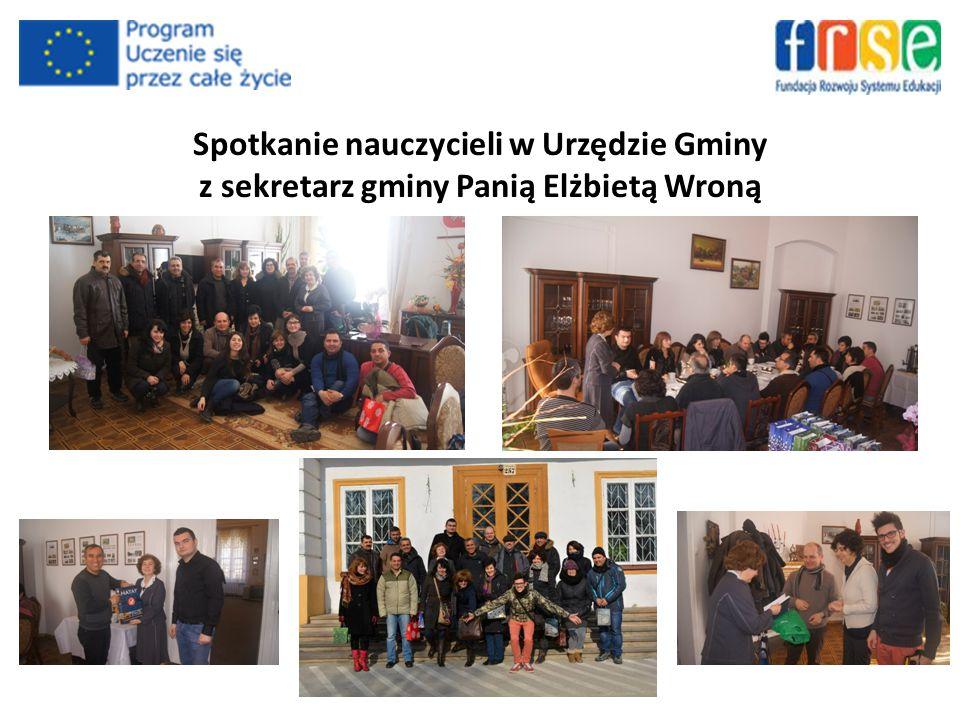 Spotkanie nauczycieli w Urzędzie Gminy z sekretarz gminy Panią Elżbietą Wroną