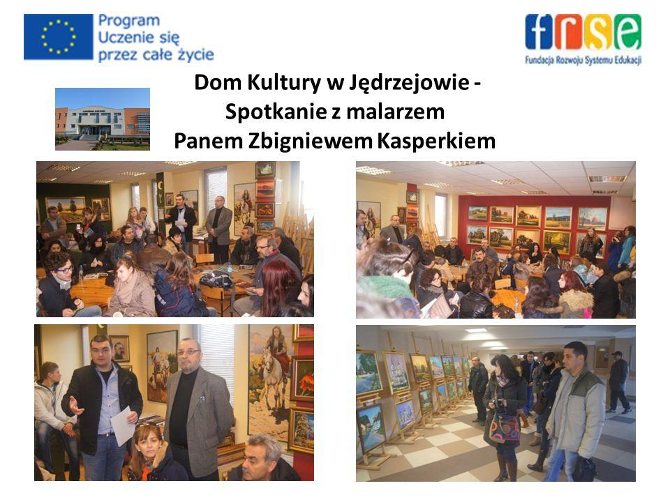 Dom Kultury w Jędrzejowie - Spotkanie z malarzem Panem Zbigniewem Kasperkiem