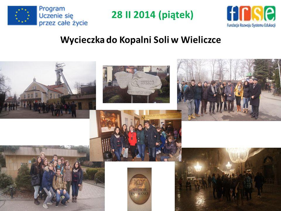 28 II 2014 (piątek) Wycieczka do Kopalni Soli w Wieliczce