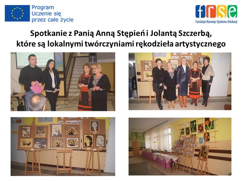 Spotkanie z Panią Anną Stępień i Jolantą Szczerbą, które są lokalnymi twórczyniami rękodzieła artystycznego