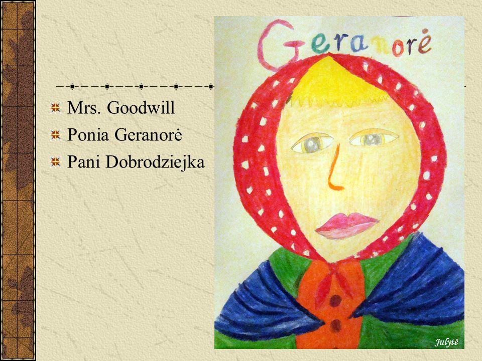 The rich woman Ponia Bloganorė Pani Bogaczka