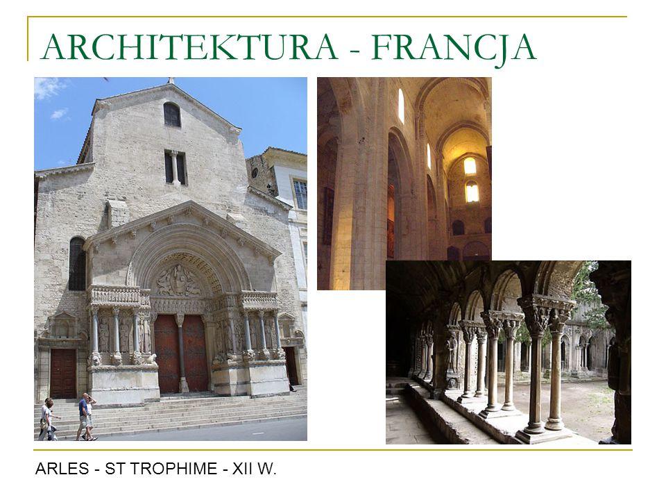 ARCHITEKTURA - FRANCJA ARLES - ST TROPHIME - XII W.