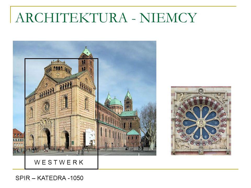 ARCHITEKTURA - NIEMCY W E S T W E R K SPIR – KATEDRA -1050