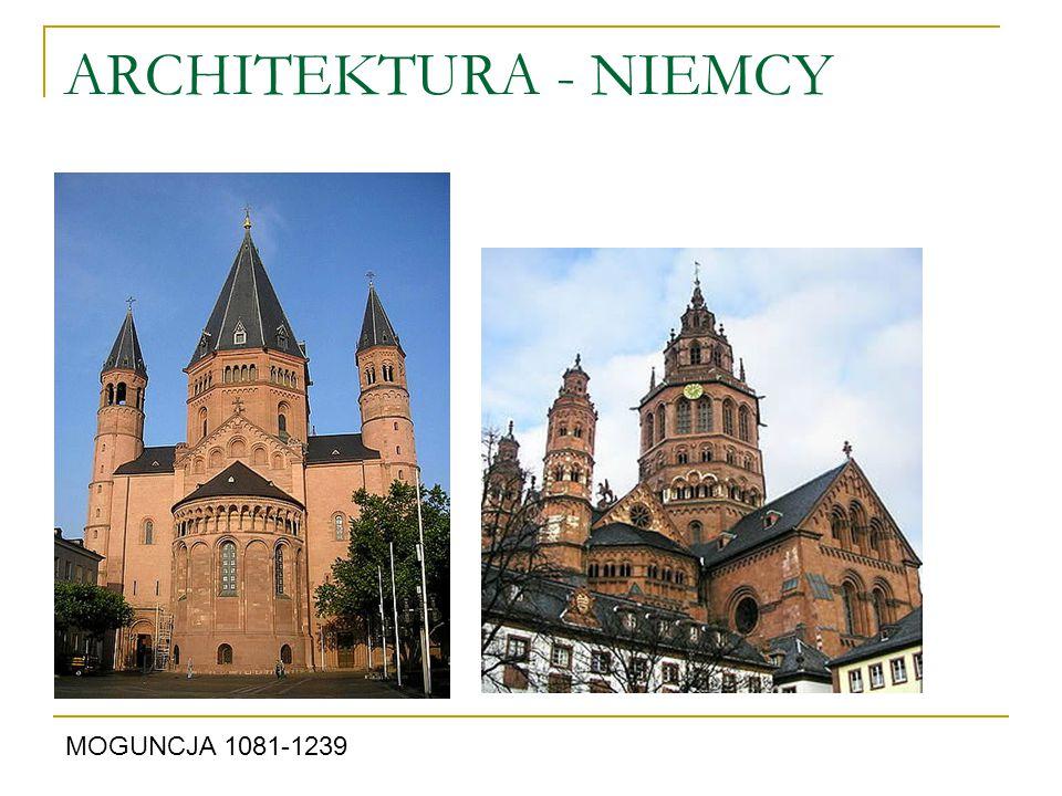 ARCHITEKTURA - NIEMCY MOGUNCJA 1081-1239