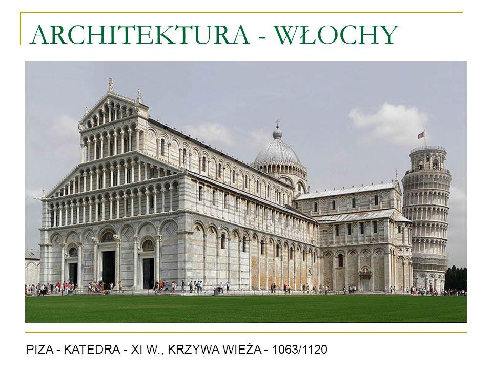 ARCHITEKTURA - WŁOCHY PIZA - KATEDRA - XI W., KRZYWA WIEŻA - 1063/1120