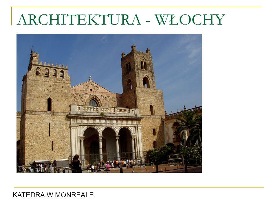 ARCHITEKTURA - WŁOCHY KATEDRA W MONREALE