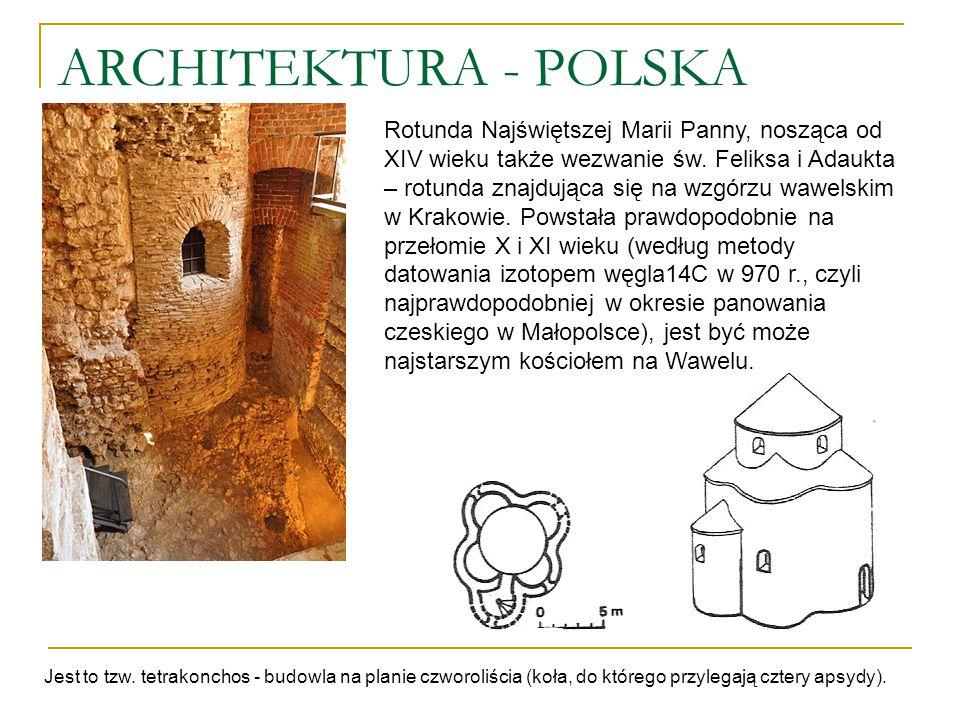 ARCHITEKTURA - POLSKA Rotunda Najświętszej Marii Panny, nosząca od XIV wieku także wezwanie św. Feliksa i Adaukta – rotunda znajdująca się na wzgórzu
