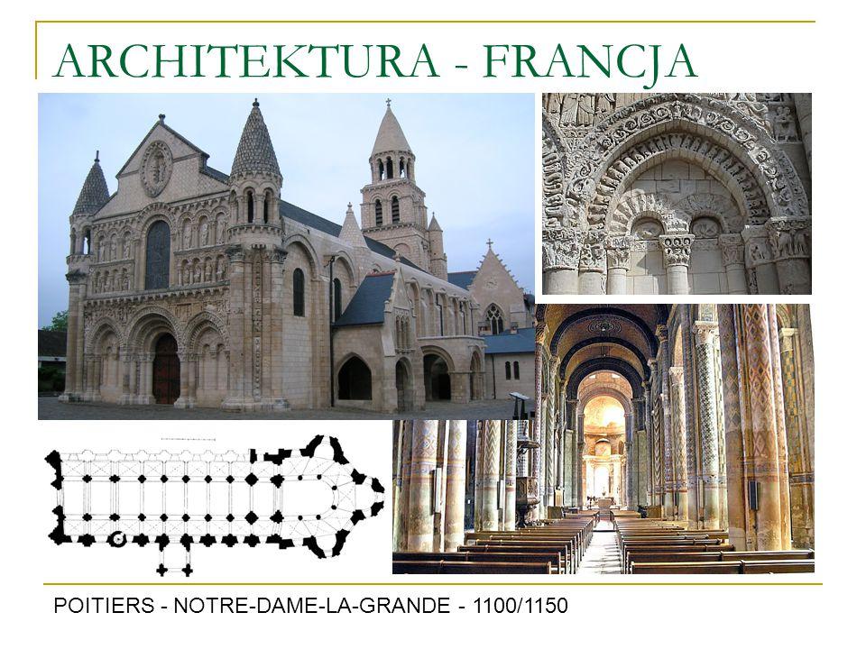 ARCHITEKTURA - FRANCJA POITIERS - NOTRE-DAME-LA-GRANDE - 1100/1150