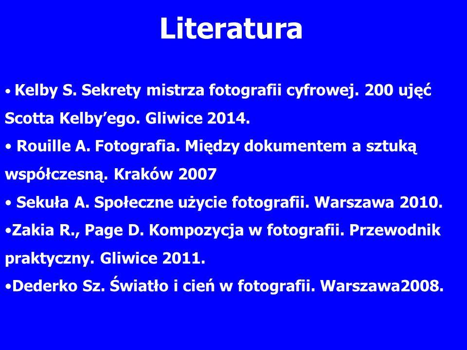 Literatura Kelby S. Sekrety mistrza fotografii cyfrowej.