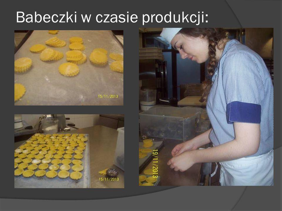 Babeczki w czasie produkcji: