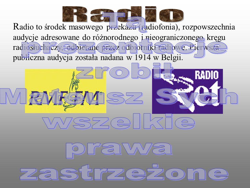 Radiofonią nazywa się przesyłanie na odległość dźwięku za pomocą fal elektromagnetycznych. Nadajnik radiowy zaopatrzony w antenę wytwarza falę elektro