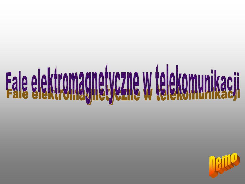 W idmo fal elektromagnetycznych obejmuje fale o długościach od 10 6 m do 10 -16 m.