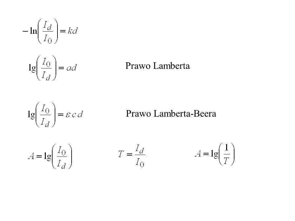 Prawo Lamberta Prawo Lamberta-Beera