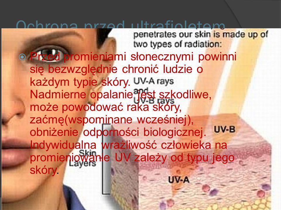 Wpływ UV na zdrowie człowieka.  Długa ekspozycja na działanie UV-B ma związek ze zwiększoną częstością występowania nowotworu złośliwego skóry (czern