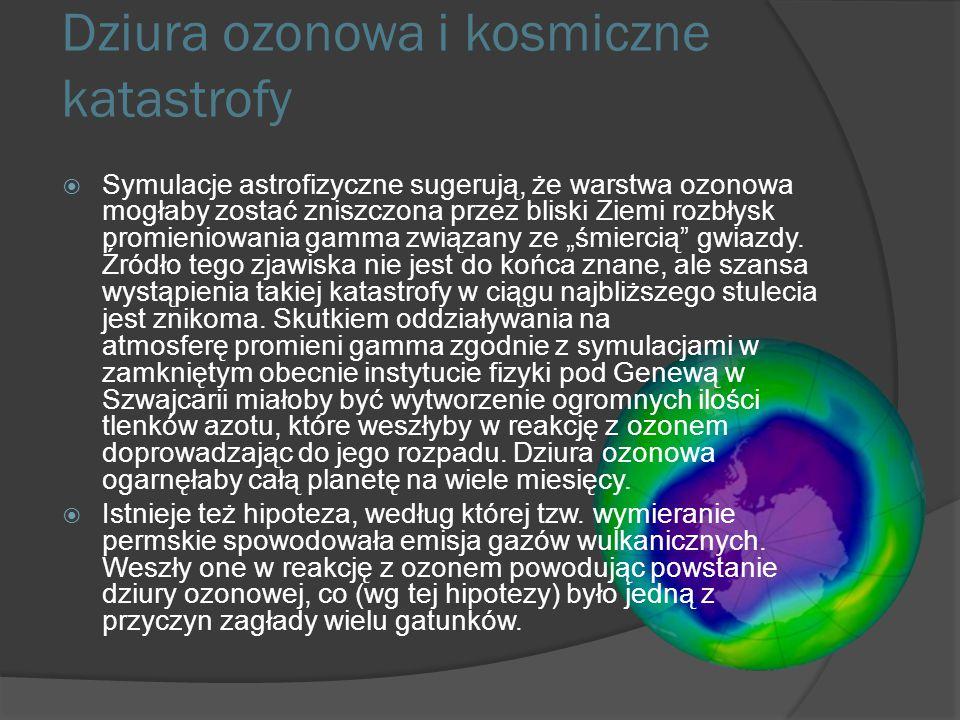 Dziura ozonowa a środowisko Ozon stratosferyczny pochłania część promieniowania ultrafioletowego docierającego do Ziemi ze Słońca. Niektóre rodzaje pr