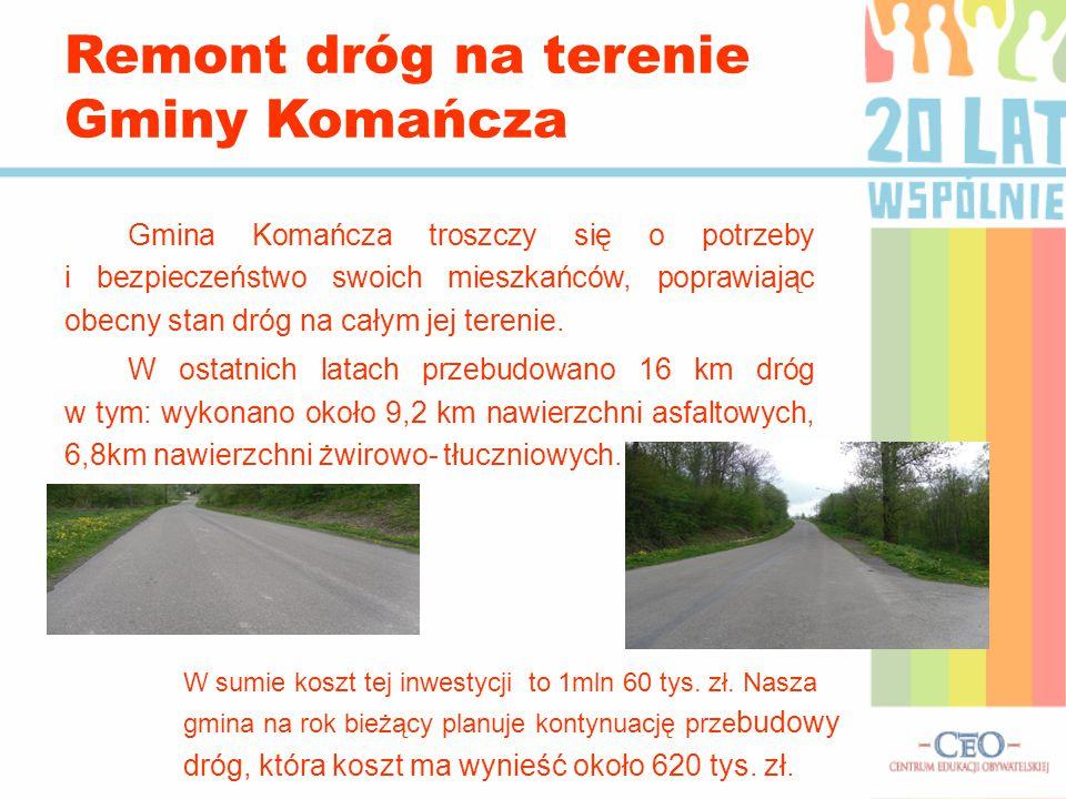 Gmina Komańcza troszczy się o potrzeby i bezpieczeństwo swoich mieszkańców, poprawiając obecny stan dróg na całym jej terenie. W ostatnich latach prze
