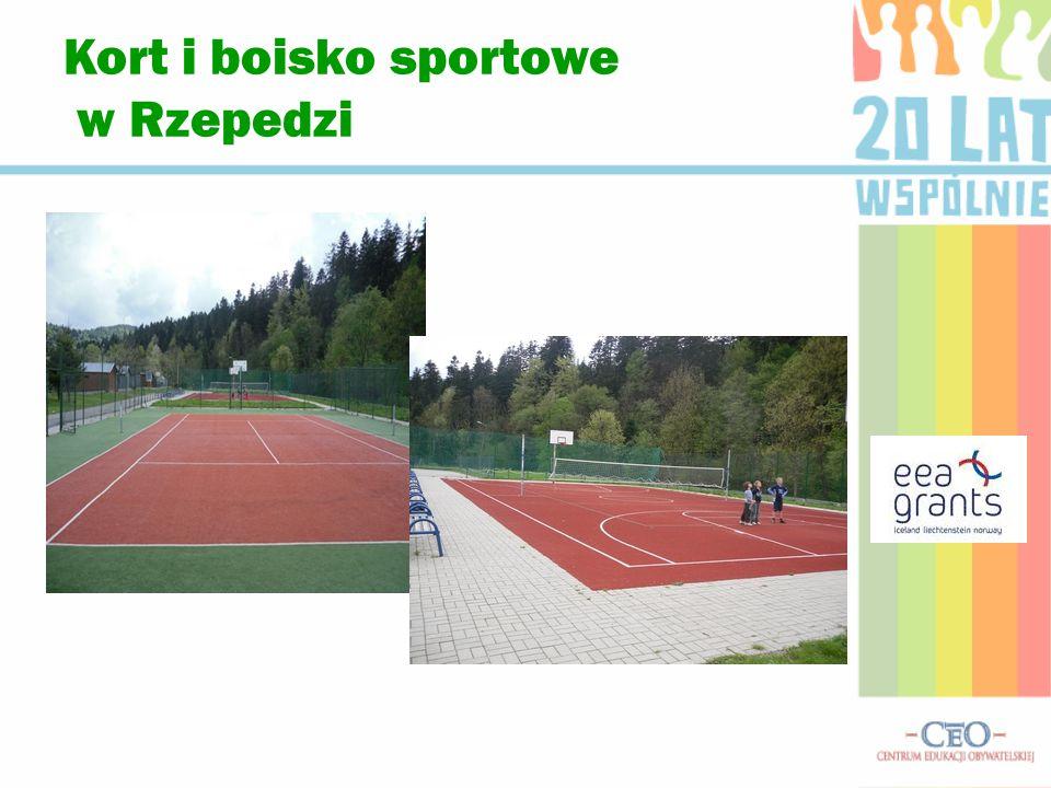 Kort i boisko sportowe w Rzepedzi