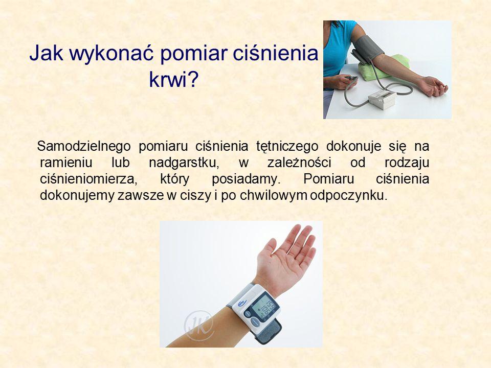 Jak wykonać pomiar ciśnienia krwi? Samodzielnego pomiaru ciśnienia tętniczego dokonuje się na ramieniu lub nadgarstku, w zależności od rodzaju ciśnien