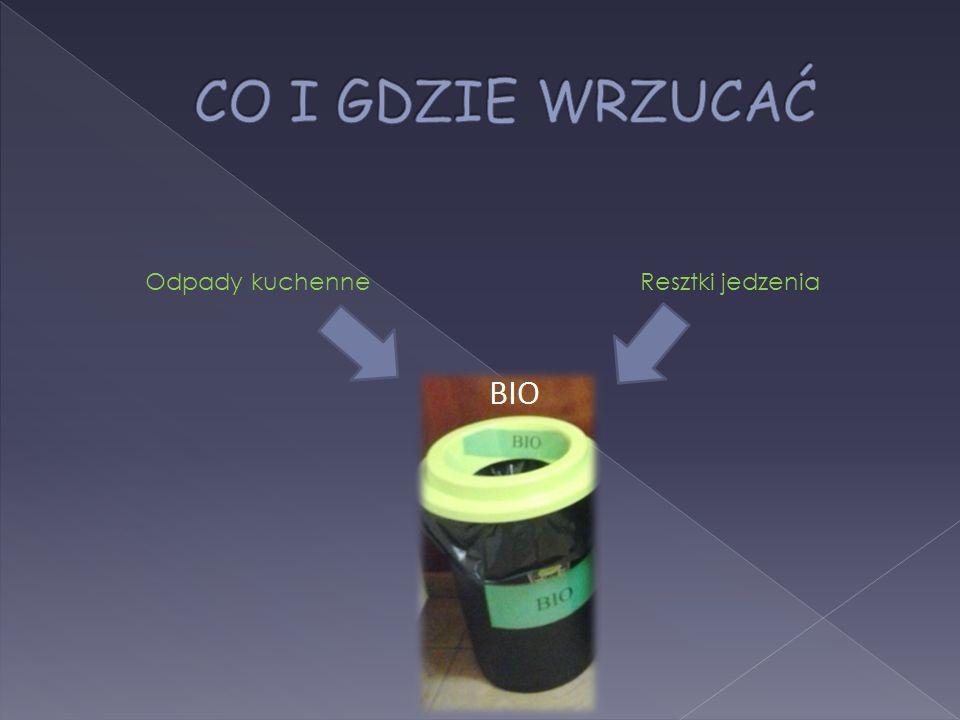 Brudne papiery Styropian Zużyta odzież i obuwie Pampersy Inne odpady, które nie należą do surowców i BIO