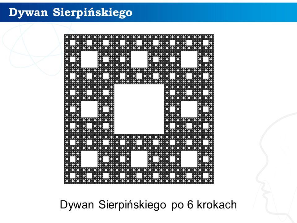 Dywan Sierpińskiego 15 Dywan Sierpińskiego po 6 krokach