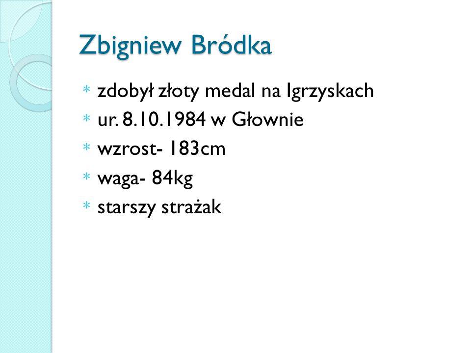 Zbigniew Bródka * zdobył złoty medal na Igrzyskach * ur.