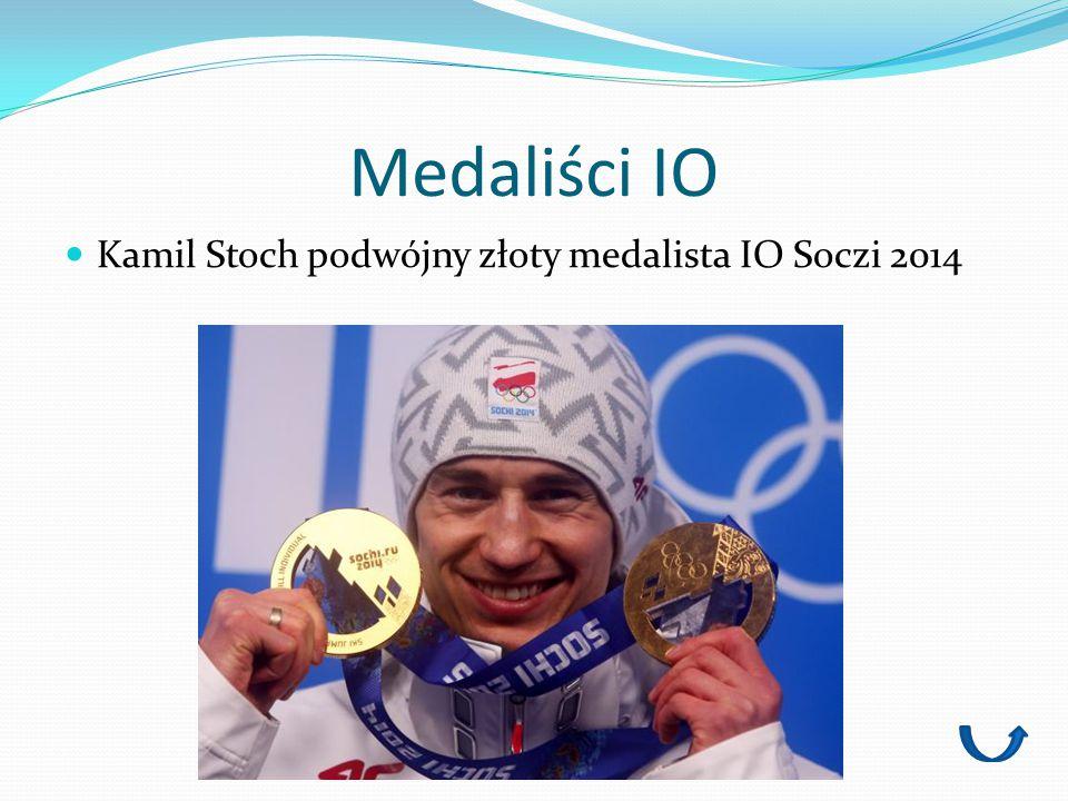Medaliści IO Kamil Stoch podwójny złoty medalista IO Soczi 2014