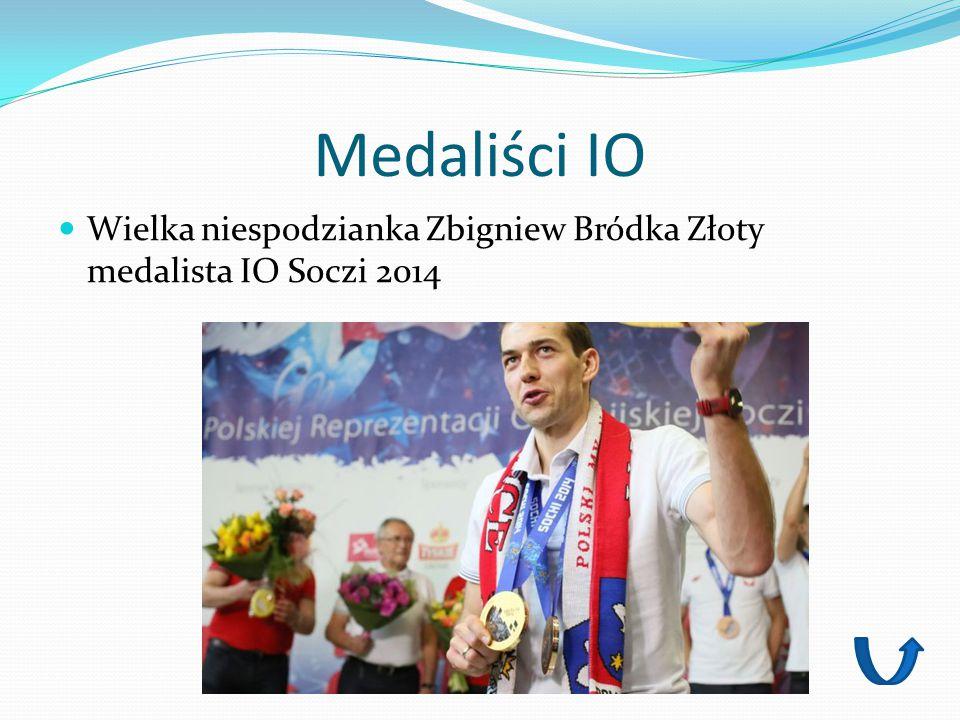 Medaliści IO Wielka niespodzianka Zbigniew Bródka Złoty medalista IO Soczi 2014
