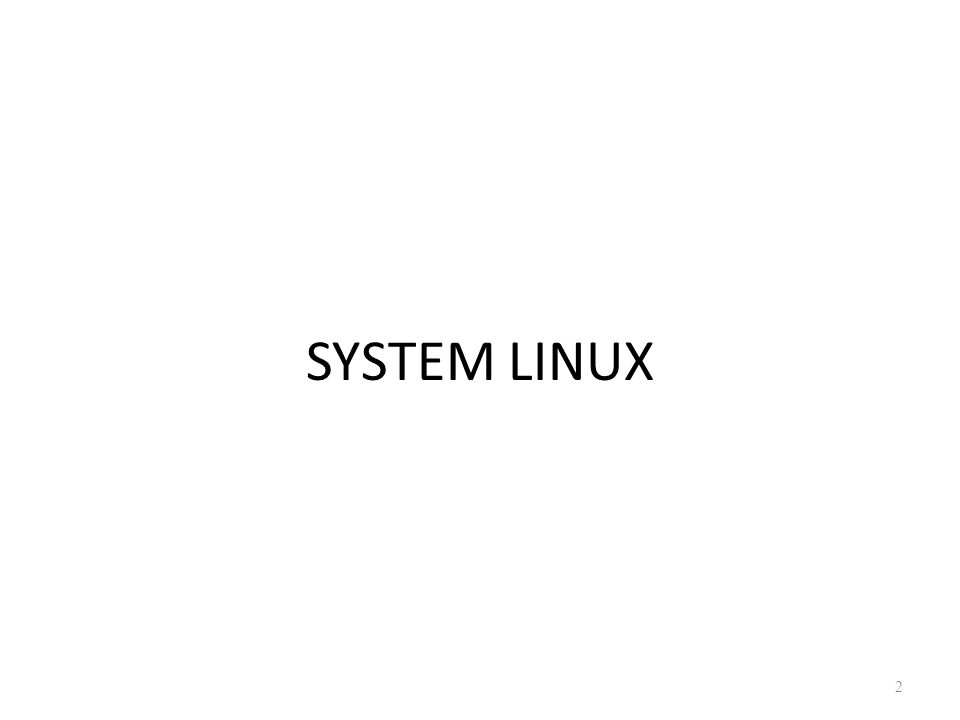 SYSTEM LINUX 2