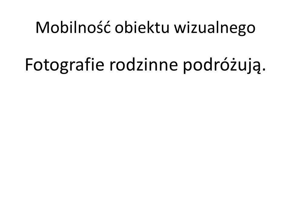 Mobilność obiektu wizualnego Fotografie rodzinne podróżują.