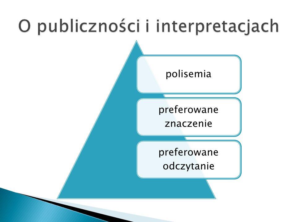 polisemia preferowane znaczenie preferowane odczytanie