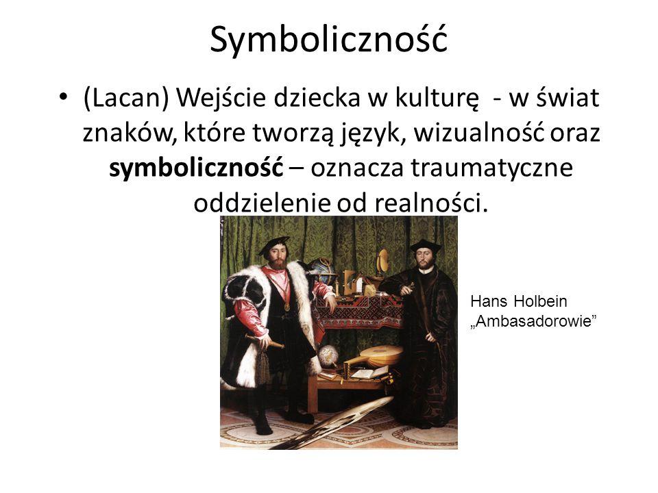 Symboliczność (Lacan) Wejście dziecka w kulturę - w świat znaków, które tworzą język, wizualność oraz symboliczność – oznacza traumatyczne oddzielenie