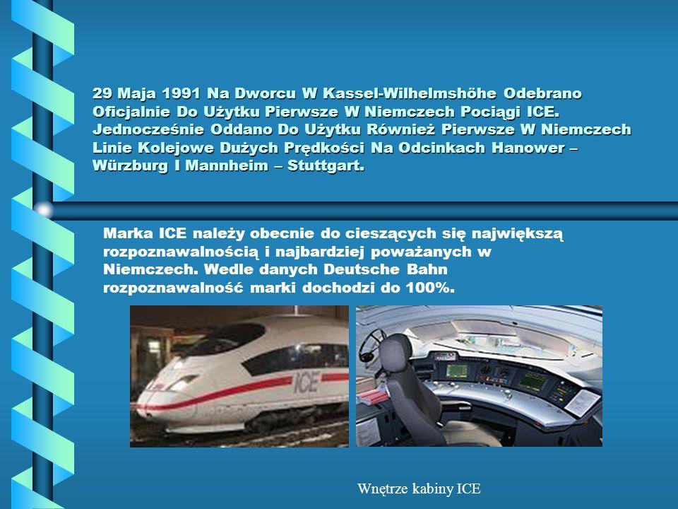 29 Maja 1991 Na Dworcu W Kassel-Wilhelmshöhe Odebrano Oficjalnie Do Użytku Pierwsze W Niemczech Pociągi ICE. Jednocześnie Oddano Do Użytku Również Pie