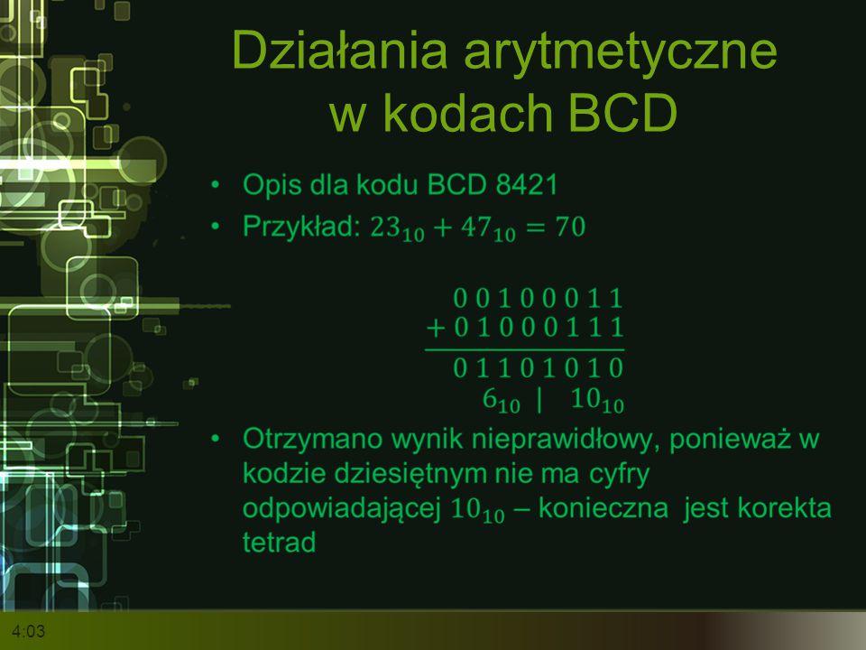 Działania arytmetyczne w kodach BCD 4:05