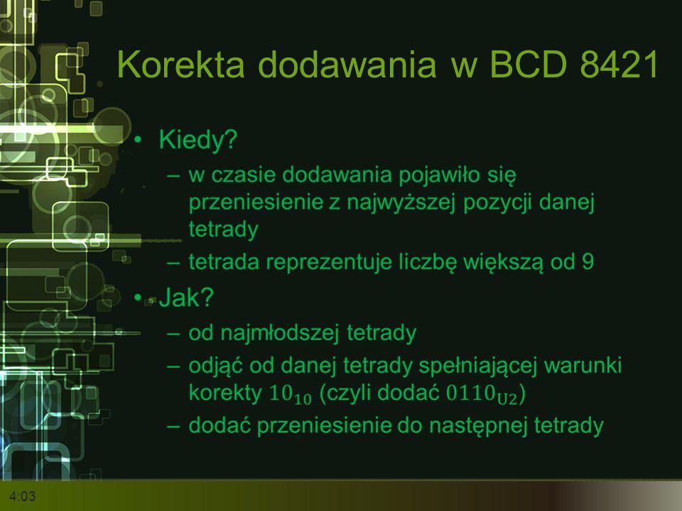 Korekta dodawania w BCD 8421 4:05