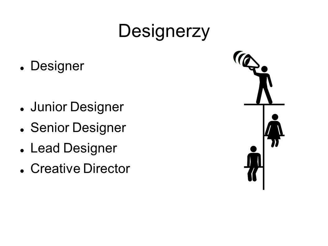 Designer Junior Designer Senior Designer Lead Designer Creative Director
