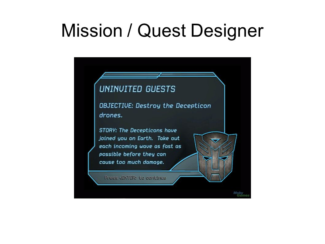 Mission / Quest Designer