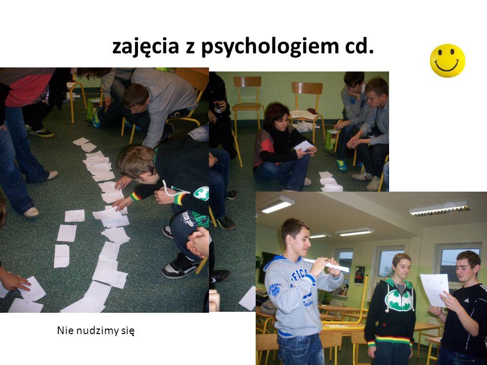 zajęcia z psychologiem cd. Nie nudzimy się