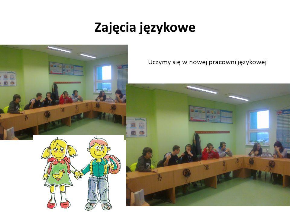 Zajęcia językowe Uczymy się w nowej pracowni językowej