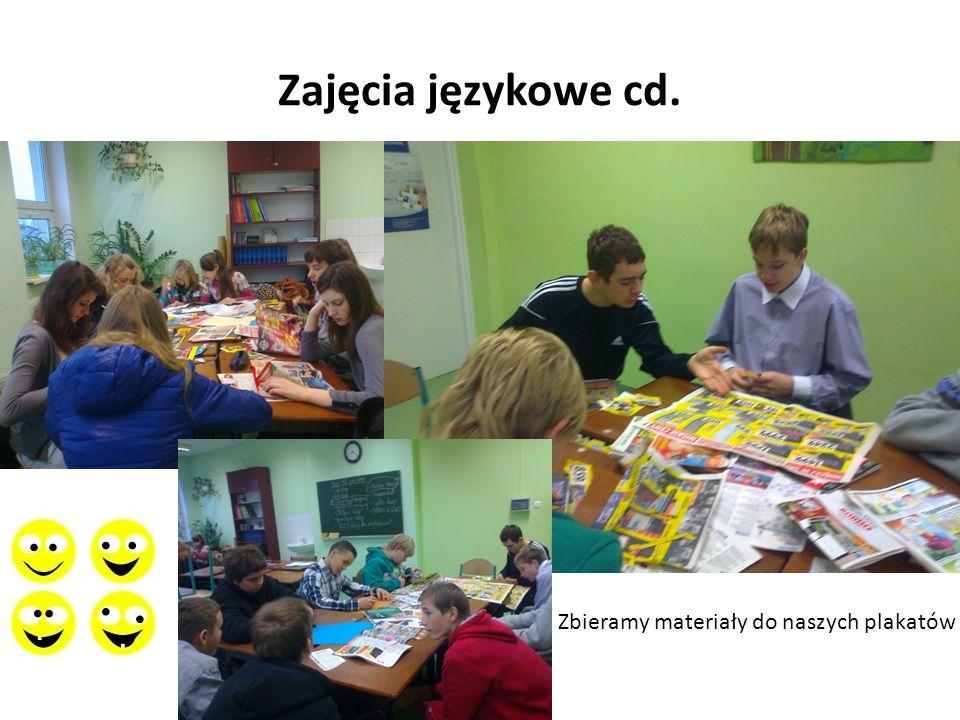 Zajęcia językowe cd. Zbieramy materiały do naszych plakatów