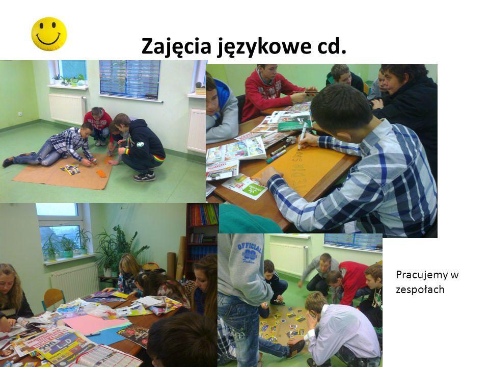 Zajęcia językowe cd. Pracujemy w zespołach
