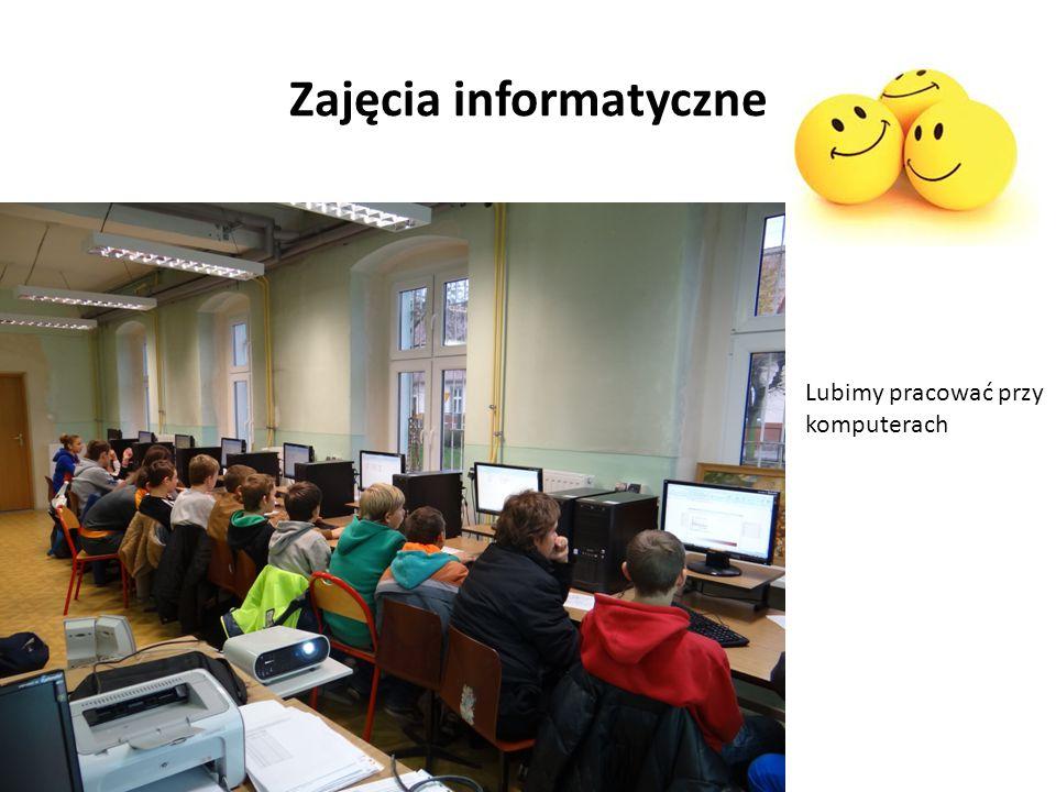 Zajęcia informatyczne Lubimy pracować przy komputerach