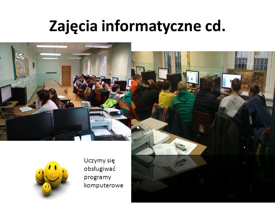 Zajęcia informatyczne cd. Uczymy się obsługiwać programy komputerowe