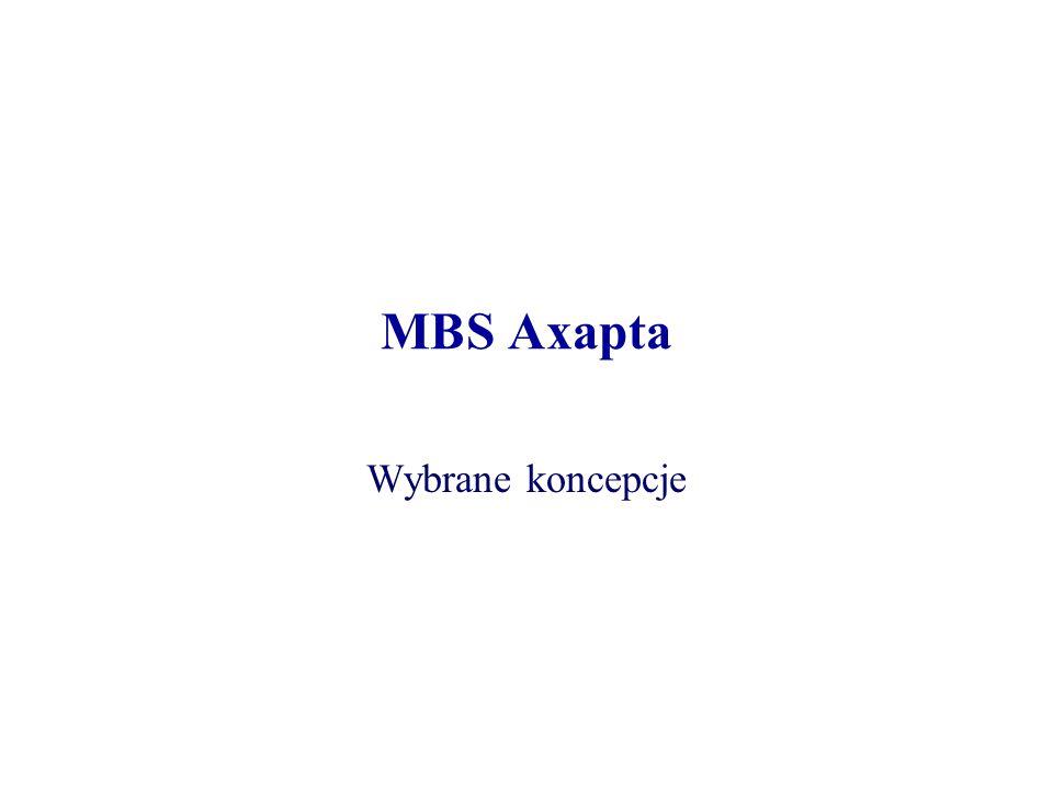 MBS Axapta Wybrane koncepcje