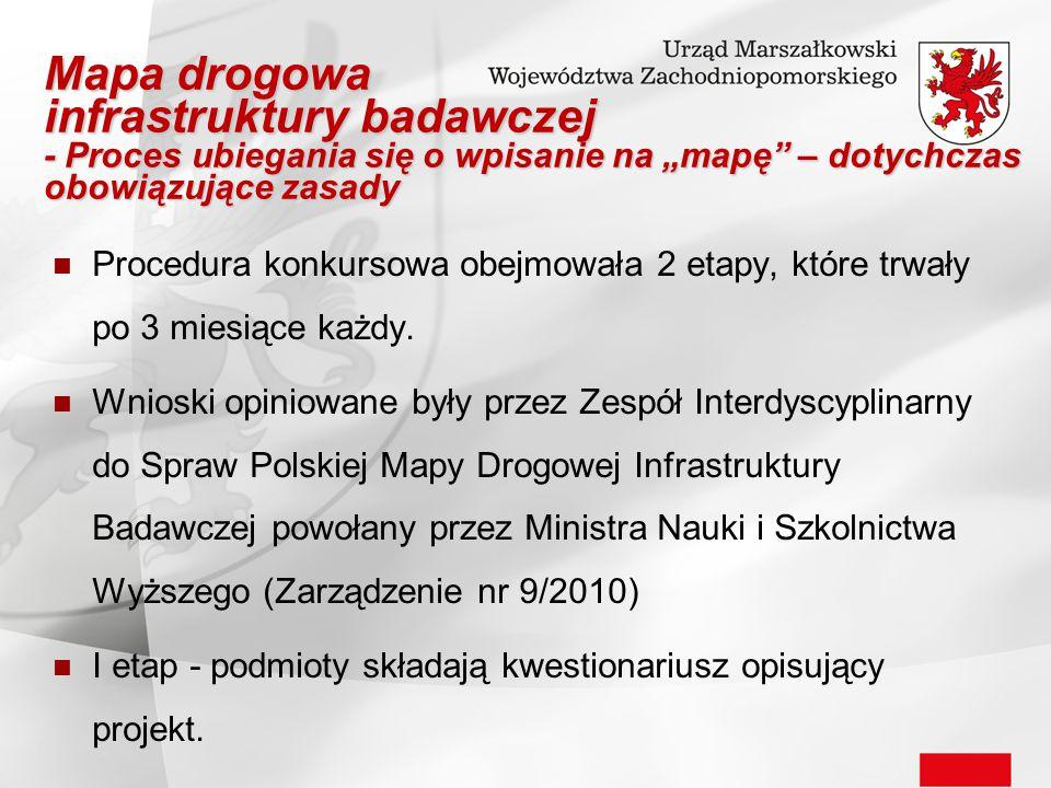Procedura konkursowa obejmowała 2 etapy, które trwały po 3 miesiące każdy. Wnioski opiniowane były przez Zespół Interdyscyplinarny do Spraw Polskiej M